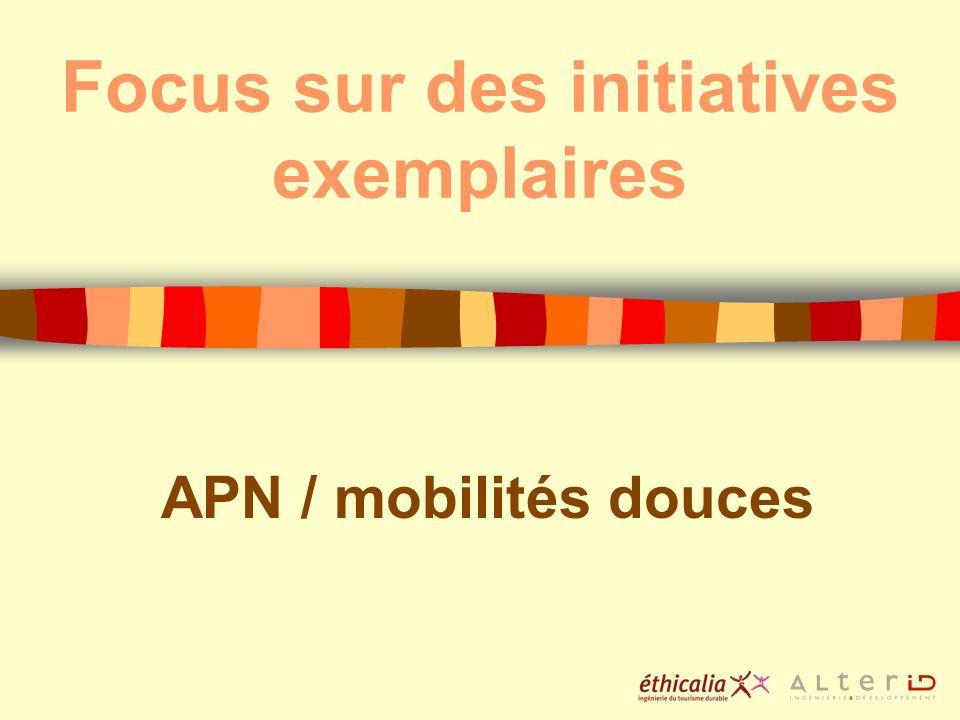 Focus sur des initiatives exemplaires APN / mobilités douces