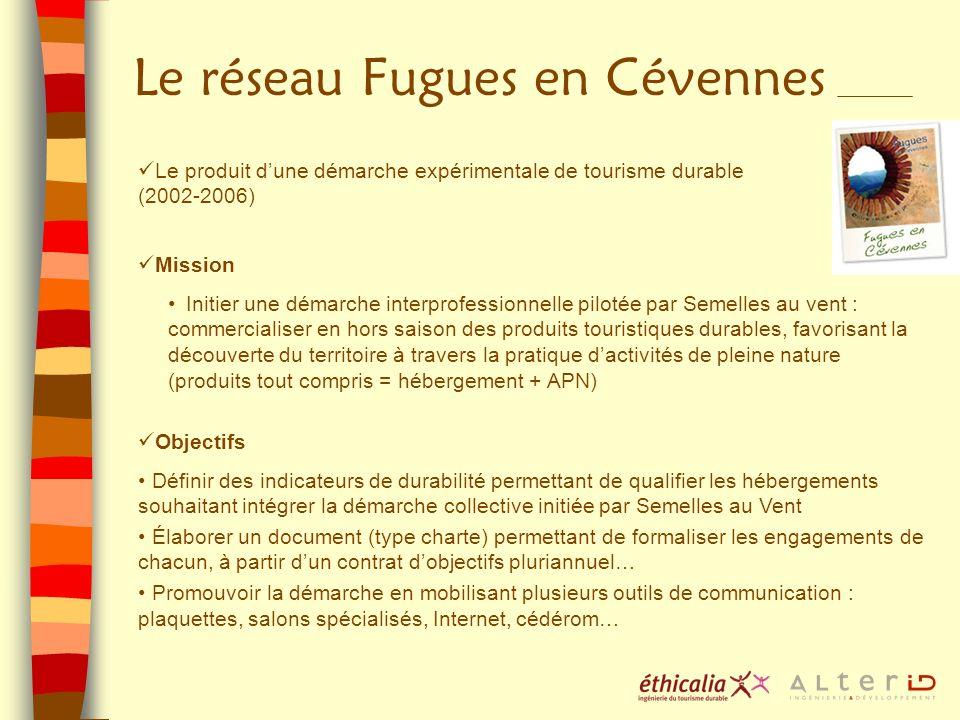 Le réseau Fugues en Cévennes Le produit dune démarche expérimentale de tourisme durable (2002-2006) Mission Initier une démarche interprofessionnelle