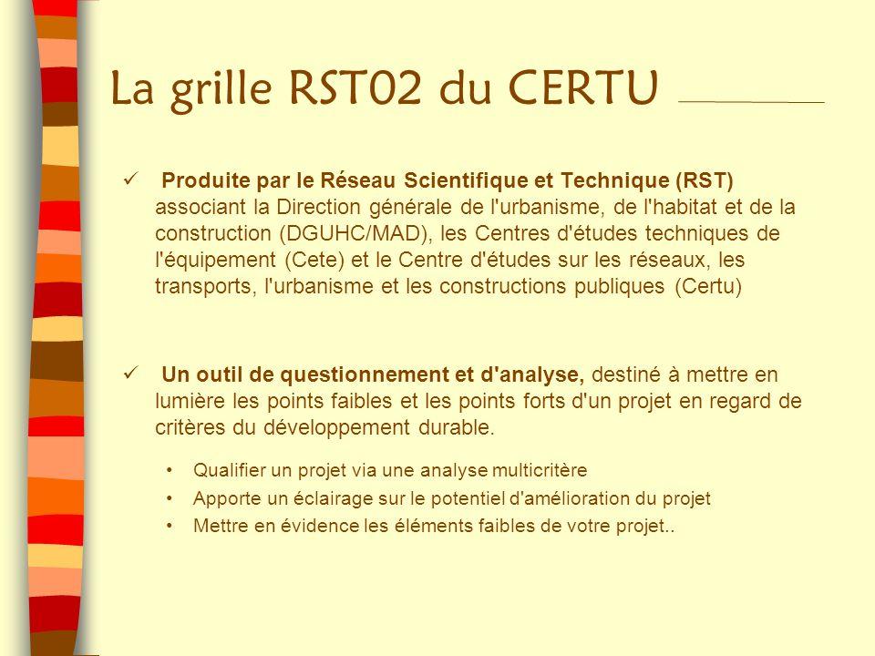 Produite par le Réseau Scientifique et Technique (RST) associant la Direction générale de l'urbanisme, de l'habitat et de la construction (DGUHC/MAD),