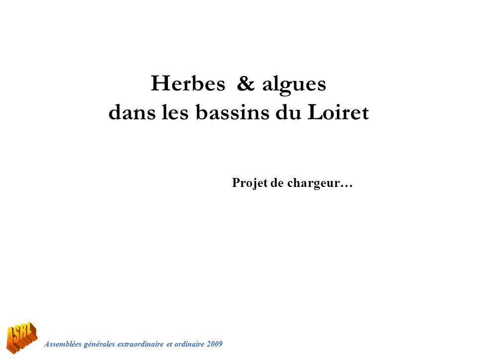 Assemblées générales extraordinaire et ordinaire 2009 Herbes & algues dans les bassins du Loiret Projet de chargeur…
