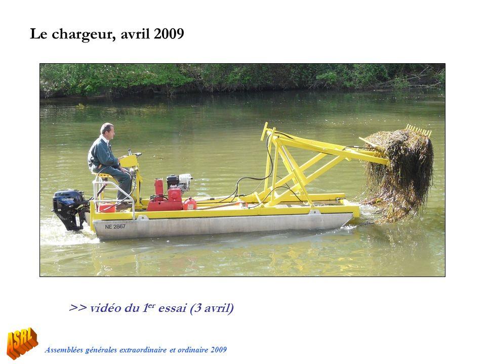 Assemblées générales extraordinaire et ordinaire 2009 Le chargeur, avril 2009 >> vidéo du 1 er essai (3 avril)