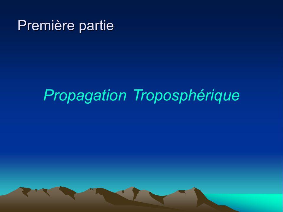 Première partie Propagation Troposphérique