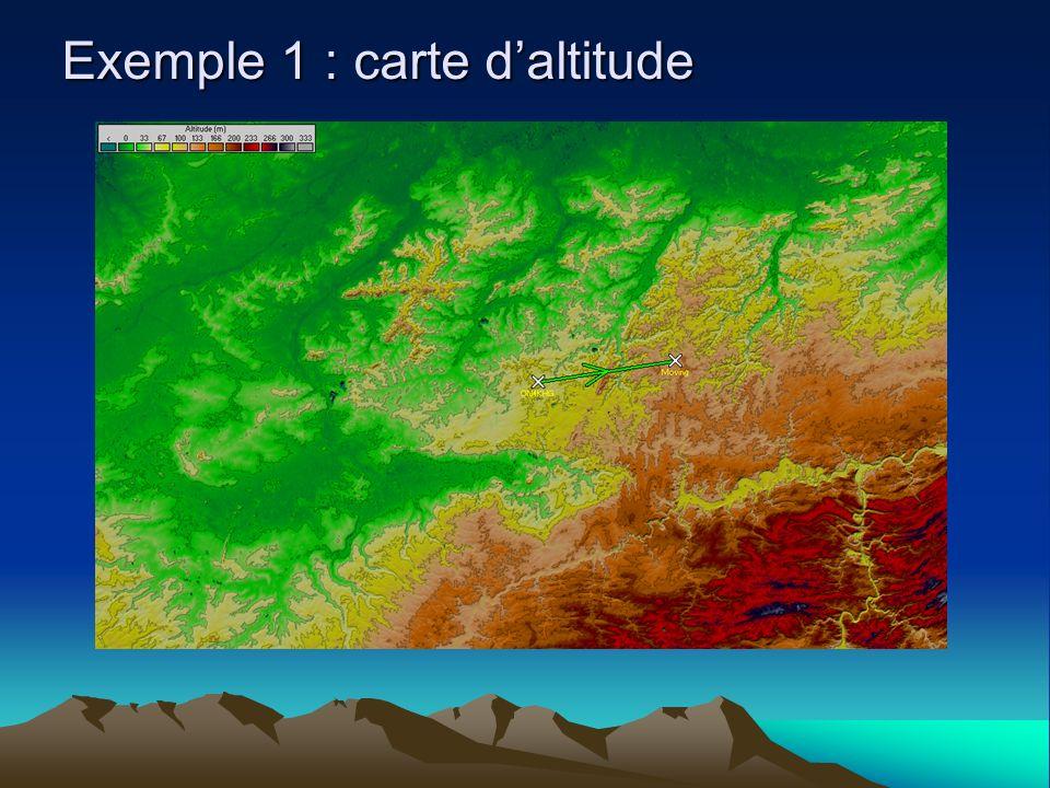 Exemple 1 : carte daltitude