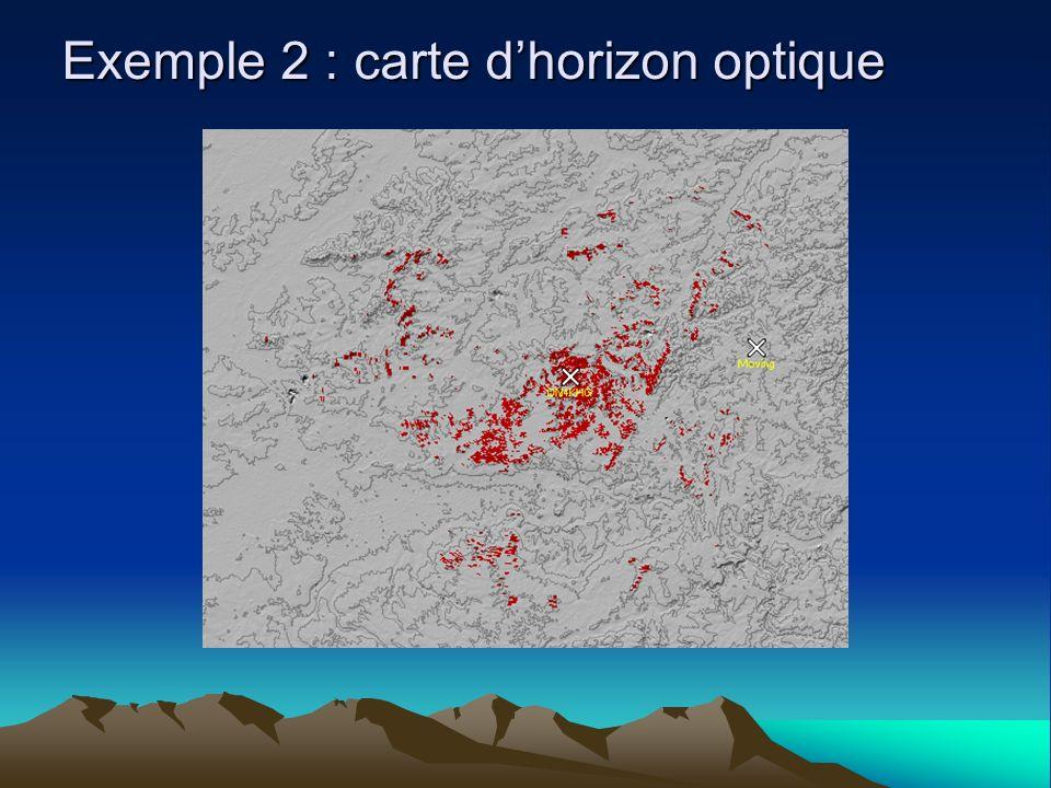 Exemple 2 : carte dhorizon optique
