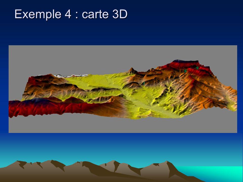 Exemple 4 : carte 3D