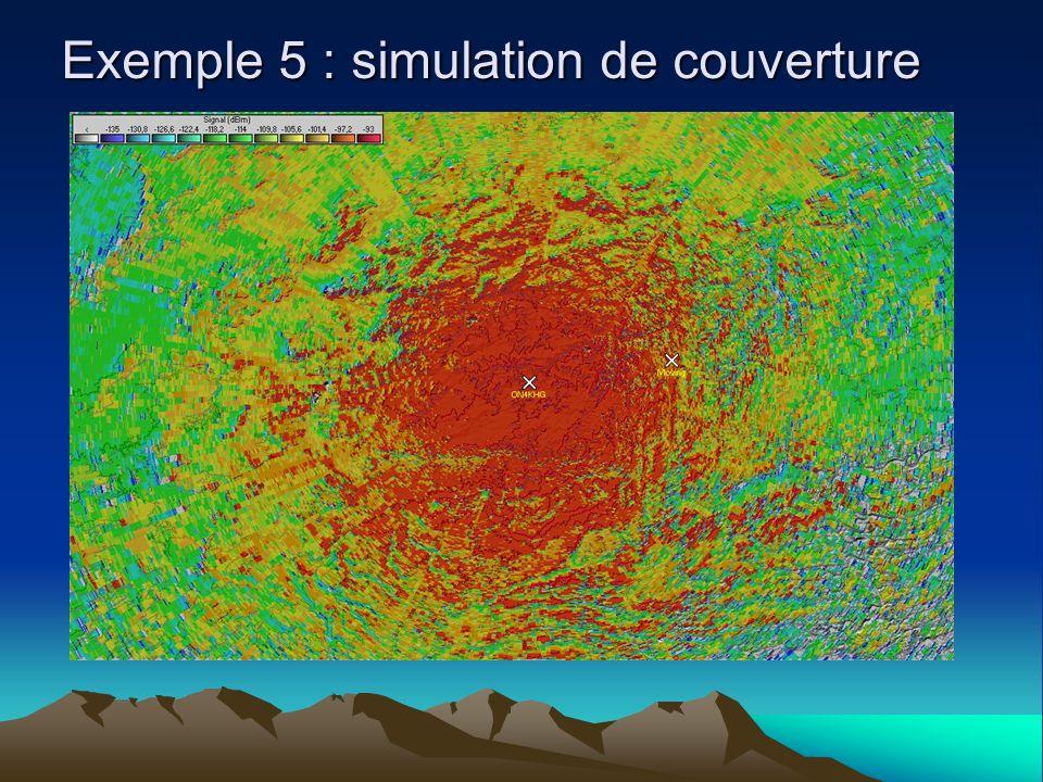 Exemple 5 : simulation de couverture