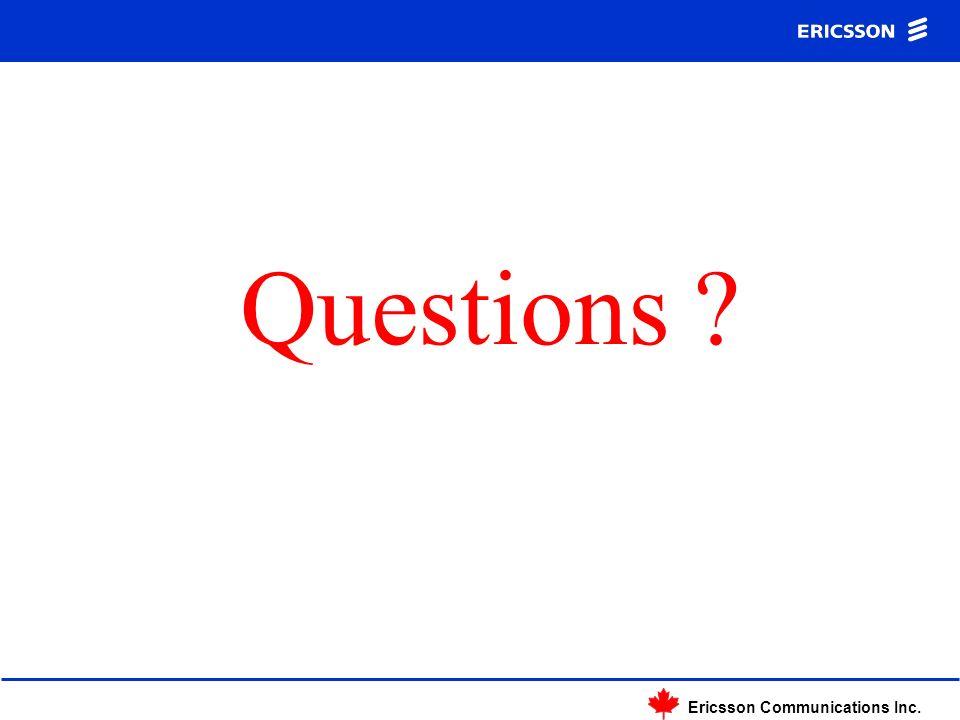 Ericsson Communications Inc. Questions