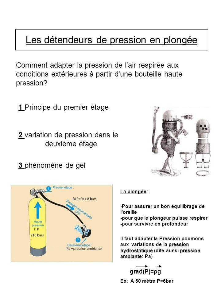 La plongée: -Pour assurer un bon équilibrage de loreille -pour que le plongeur puisse respirer -pour survivre en profondeur pression hydrostatiquepres