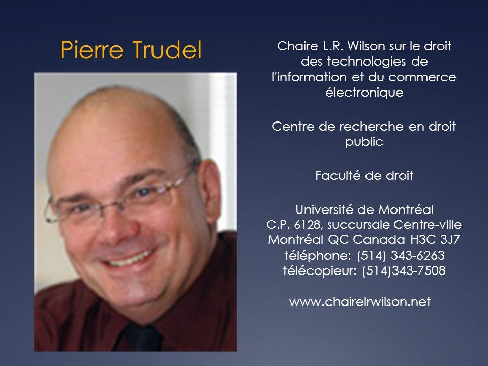 Pierre Trudel Chaire L.R.