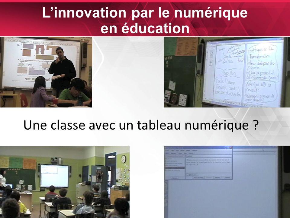 24 Linnovation par le numérique en éducation Une classe avec un tableau numérique