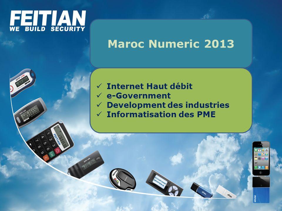 Internet Haut débit e-Government Development des industries Informatisation des PME Maroc Numeric 2013