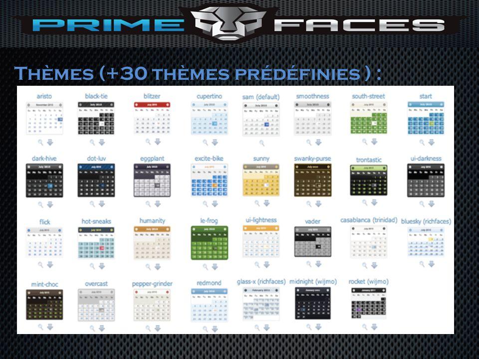 Thèmes (+30 thèmes prédéfinies ) :