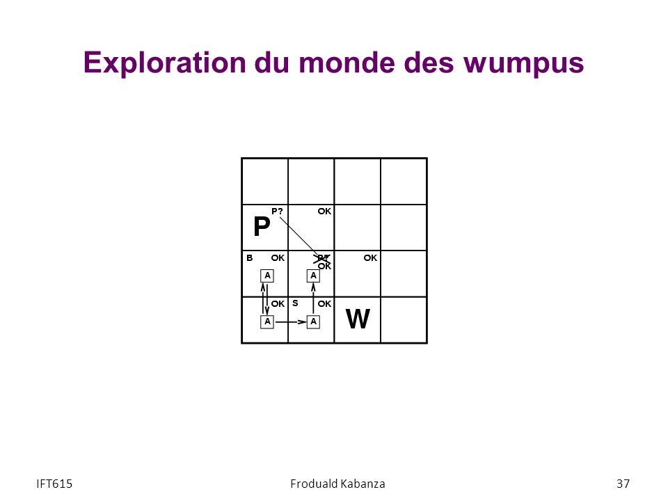Exploration du monde des wumpus IFT615Froduald Kabanza37