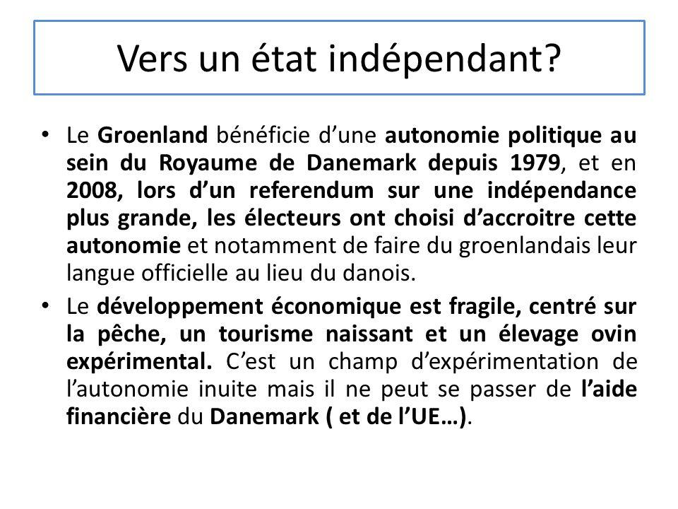 Vers un état indépendant.