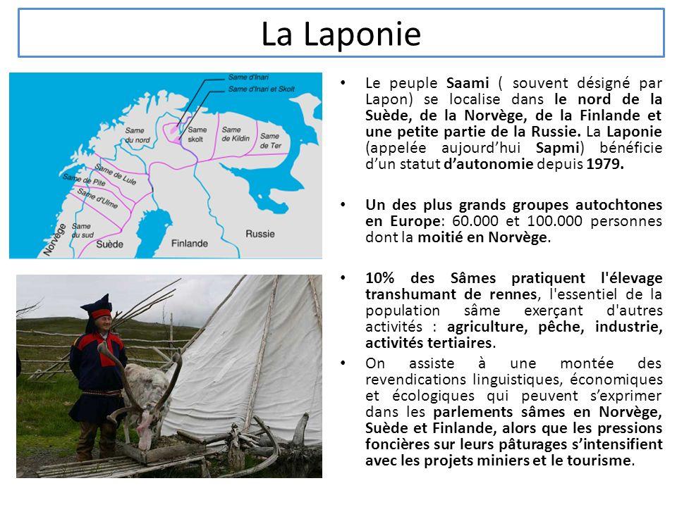 La Laponie Le peuple Saami ( souvent désigné par Lapon) se localise dans le nord de la Suède, de la Norvège, de la Finlande et une petite partie de la Russie.