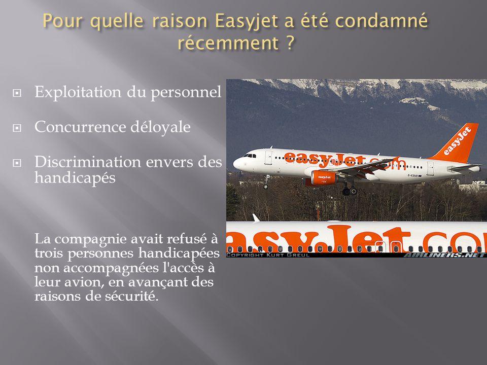 Pour quelle raison Easyjet a été condamné récemment .