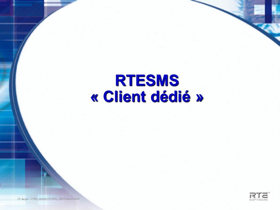 JM Berger – RTES_PRESENTATION_TECHNIQUE-2003 RTESMS « Client dédié »