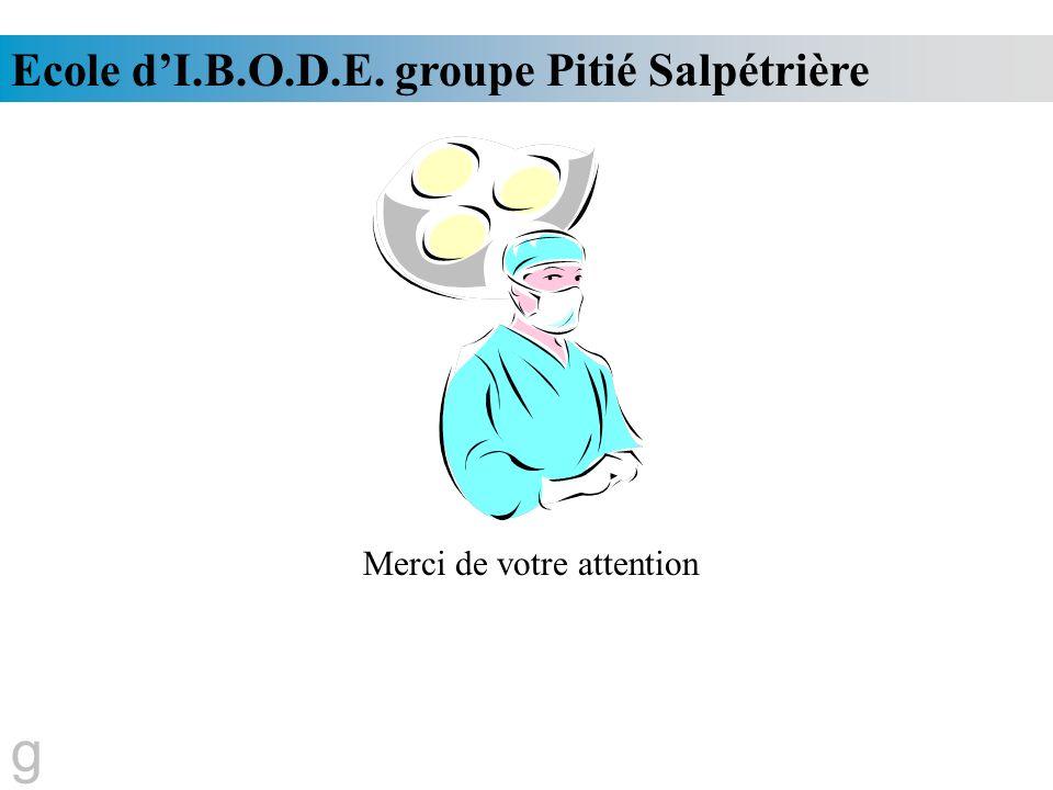 Ecole dI.B.O.D.E. groupe Pitié Salpétrière g Merci de votre attention