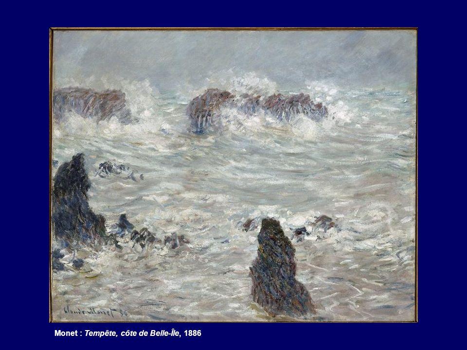 Monet : Tempête, côte de Belle-Île, 1886