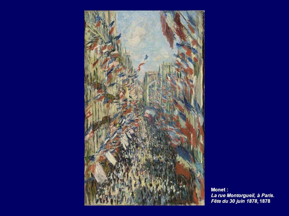 Monet : La rue Montorgueil, à Paris. Fête du 30 juin 1878, 1878