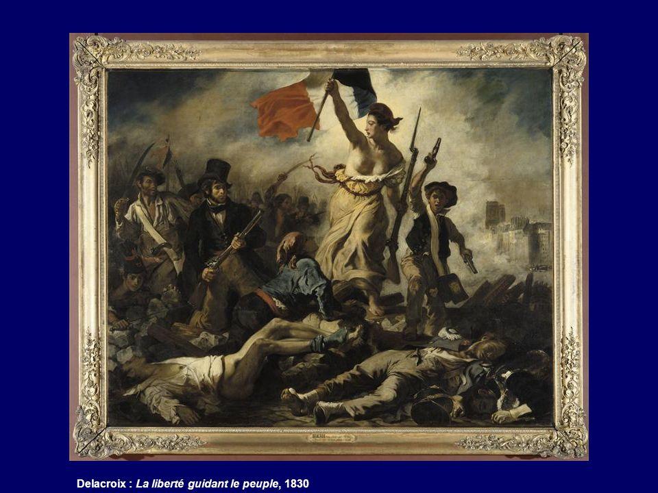 Delacroix : La liberté guidant le peuple, 1830