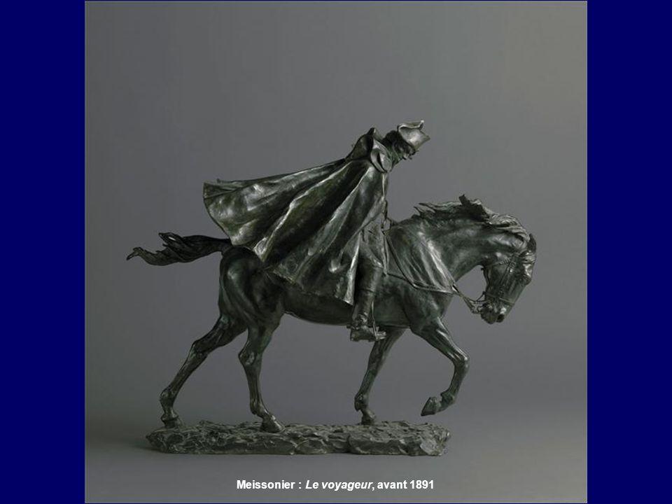 Meissonier : Cavalier dans lorage, 1879 Meissonier : Le voyageur, avant 1891