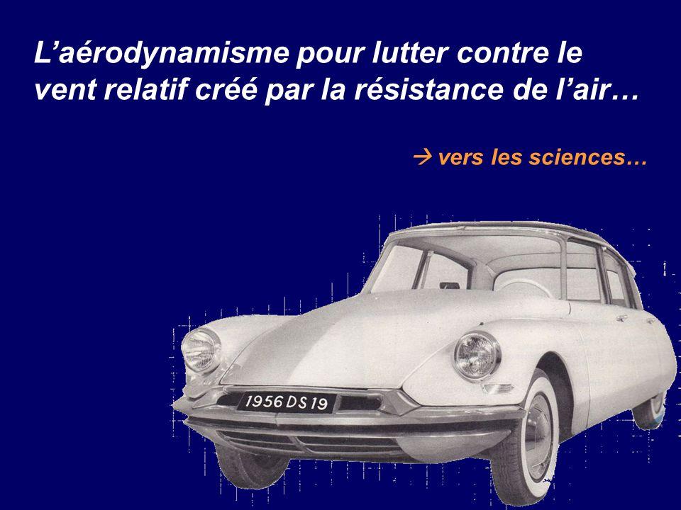 Laérodynamisme pour lutter contre le vent relatif créé par la résistance de lair… vers les sciences…