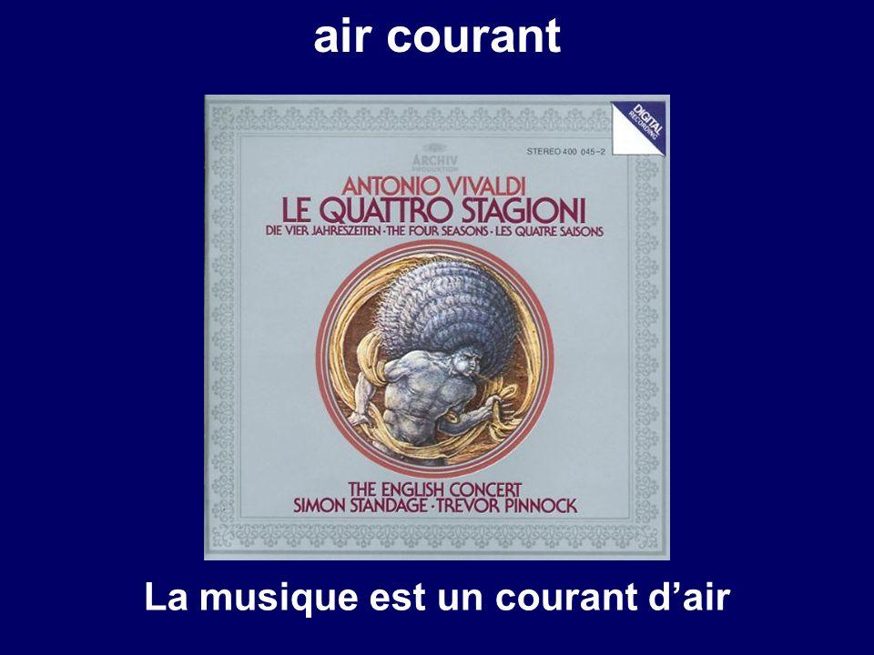 courant dair air courant La musique est un courant dair