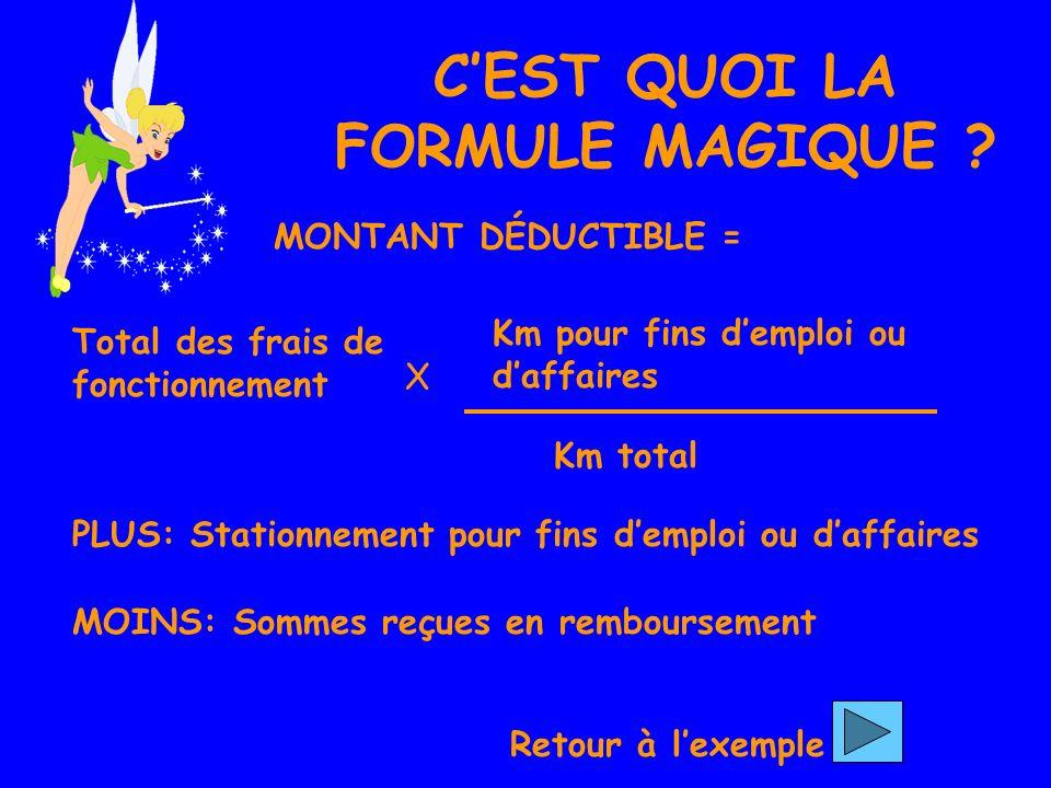 CEST QUOI LA FORMULE MAGIQUE .