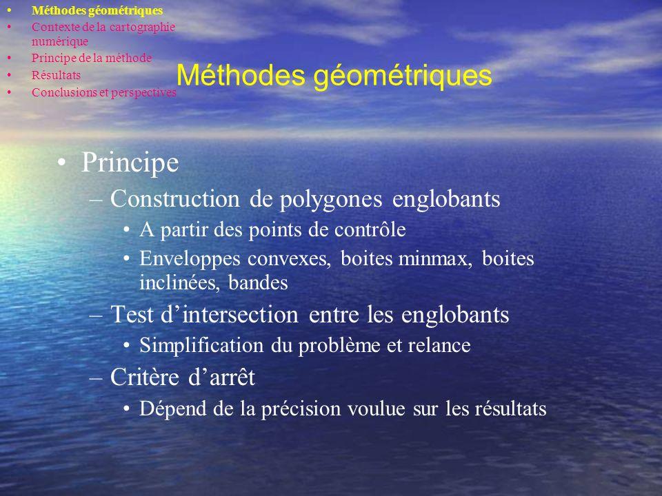 Méthodes géométriques (suite) 1 2 Méthode par subdivision (Lane et Riesenfeld, 1980)
