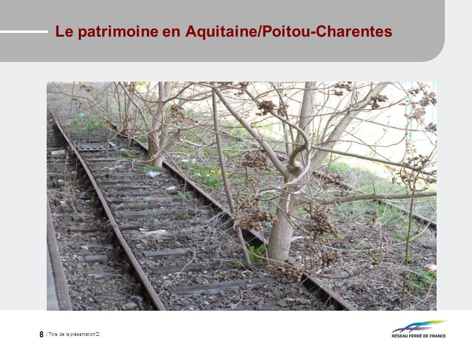 / Titre de la présentation 8 Le patrimoine en Aquitaine/Poitou-Charentes