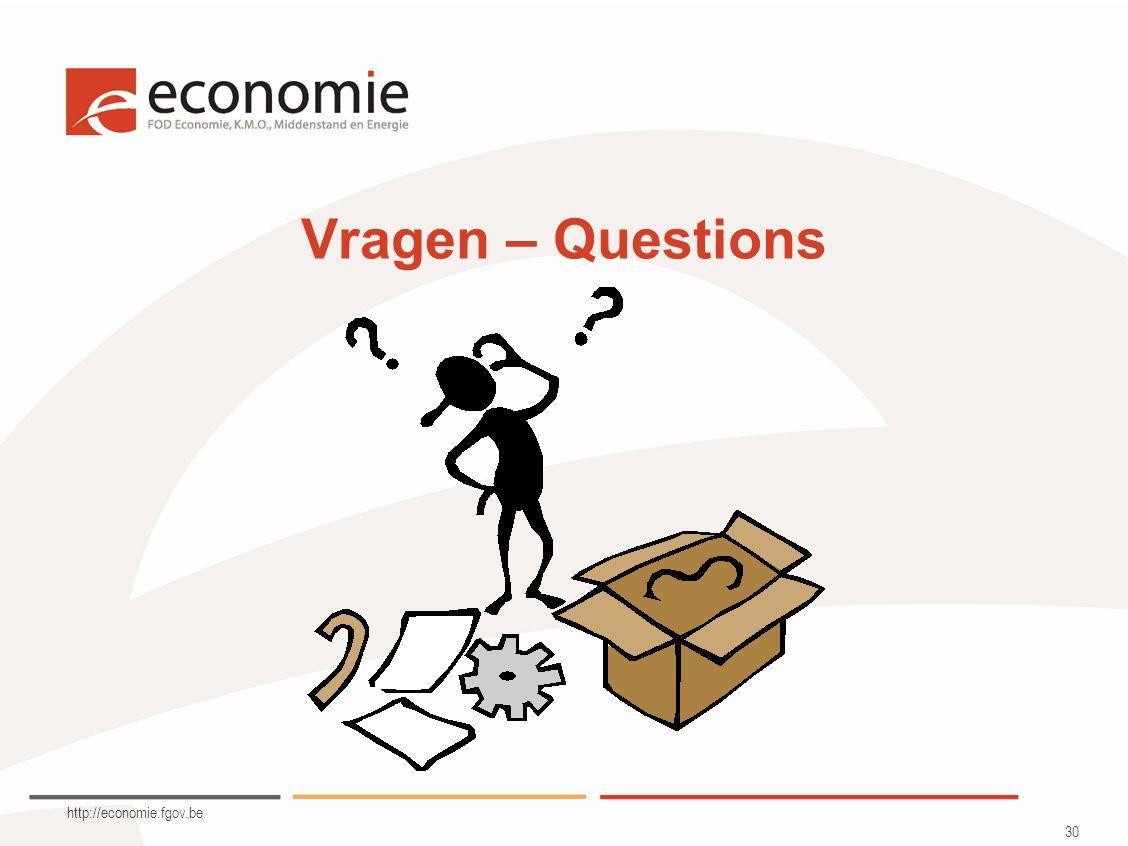 http://economie.fgov.be 30 Vragen – Questions