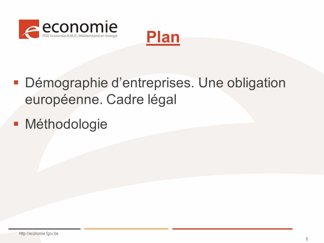 http://economie.fgov.be 8 Plan Démographie dentreprises.
