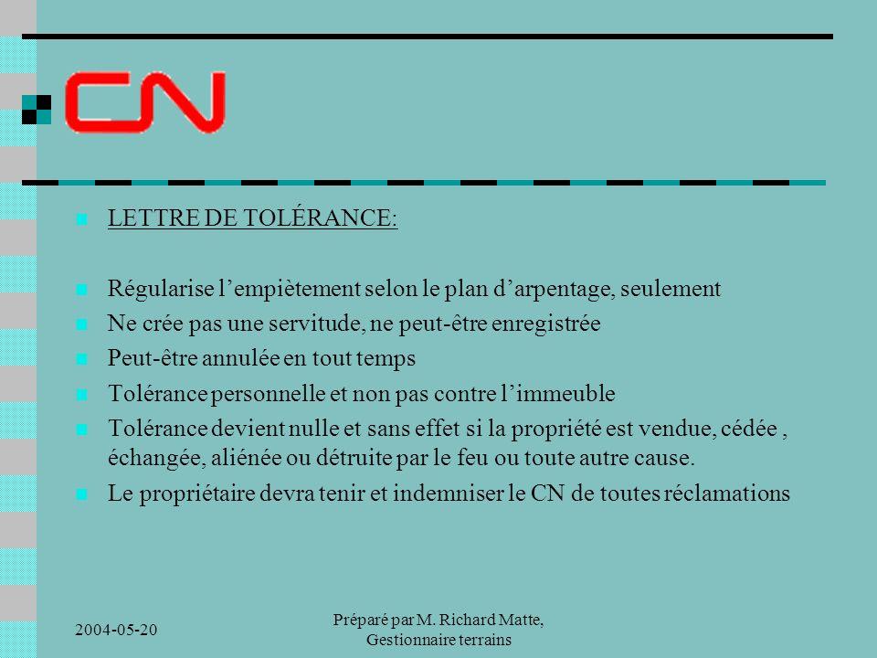 2004-05-20 Préparé par M.