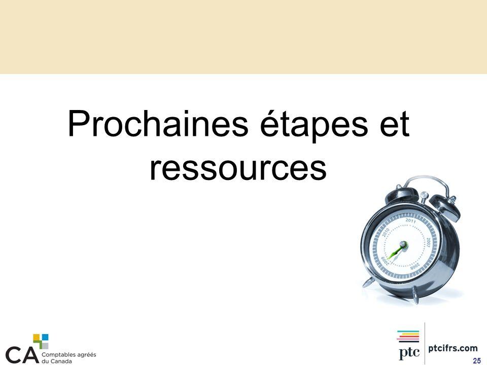 Prochaines étapes et ressources 25