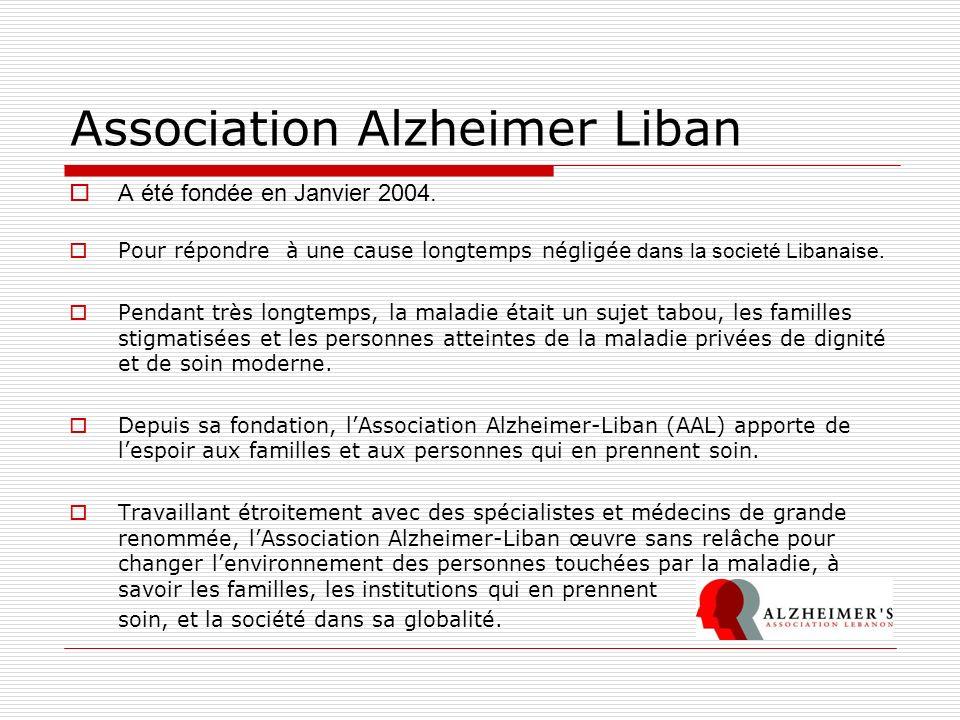 Association Alzheimer Liban A été fondée en Janvier 2004. Pour répondre à une cause longtemps négligée dans la societé Libanaise. Pendant très longtem