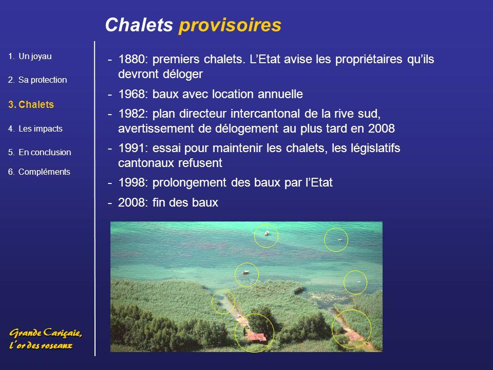 -1880: premiers chalets.