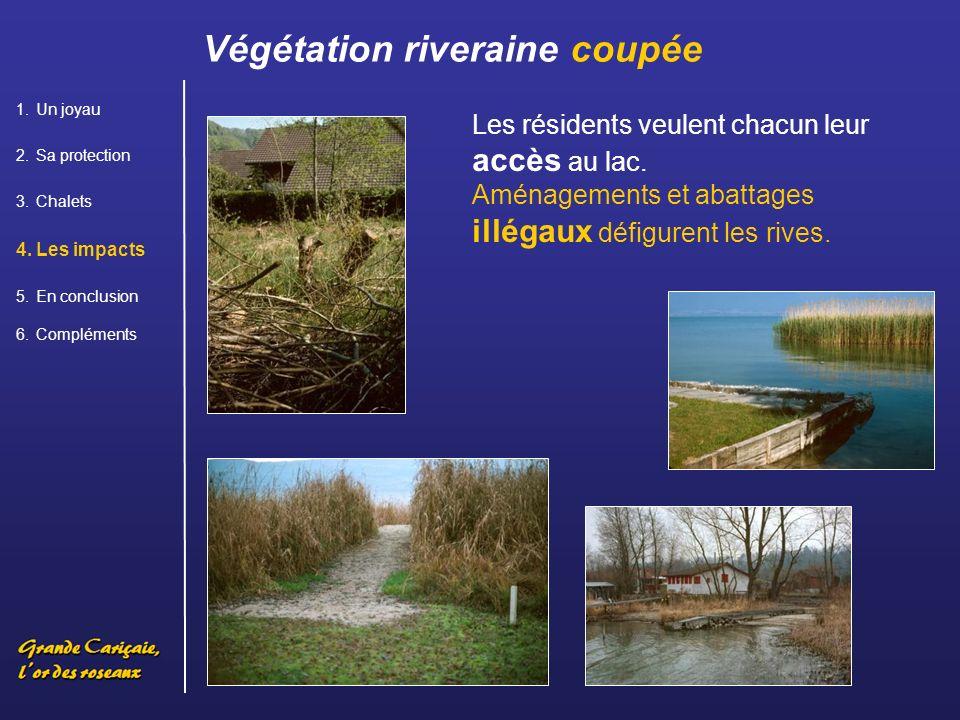 Les résidents veulent chacun leur accès au lac.