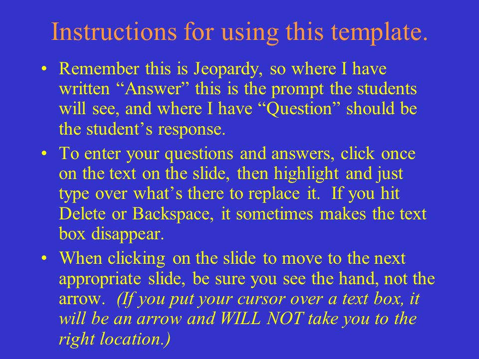 Instructions for using this template.