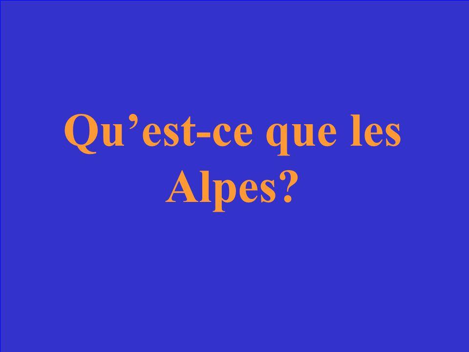 Elles sont les plus hautes montagnes de la France.