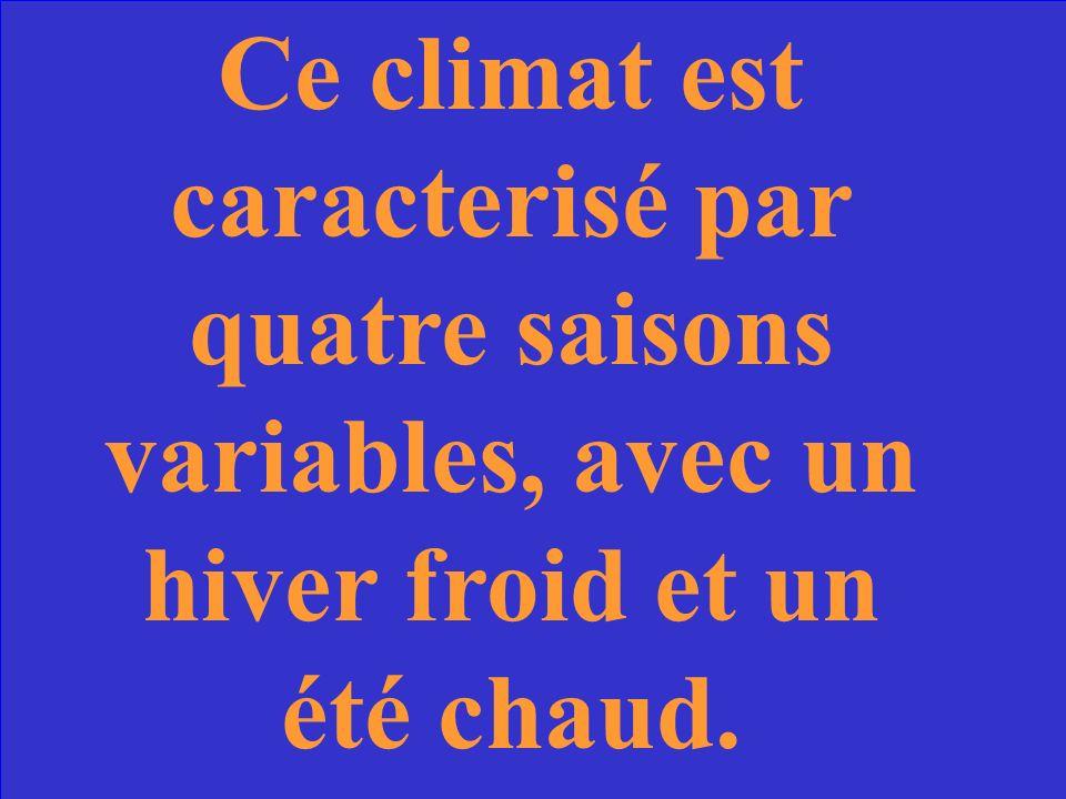 Combien de climats y a-t-il en France