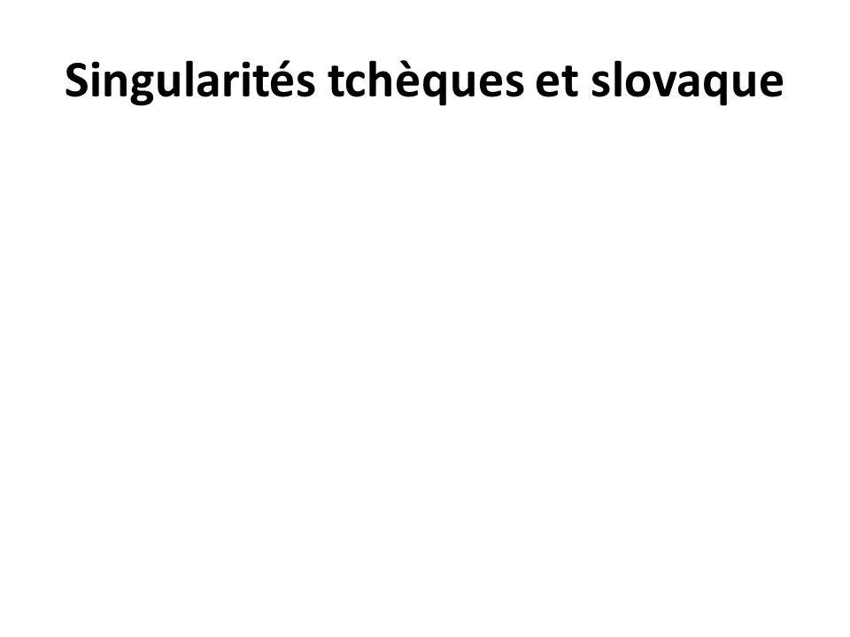 Singularités tchèques et slovaque