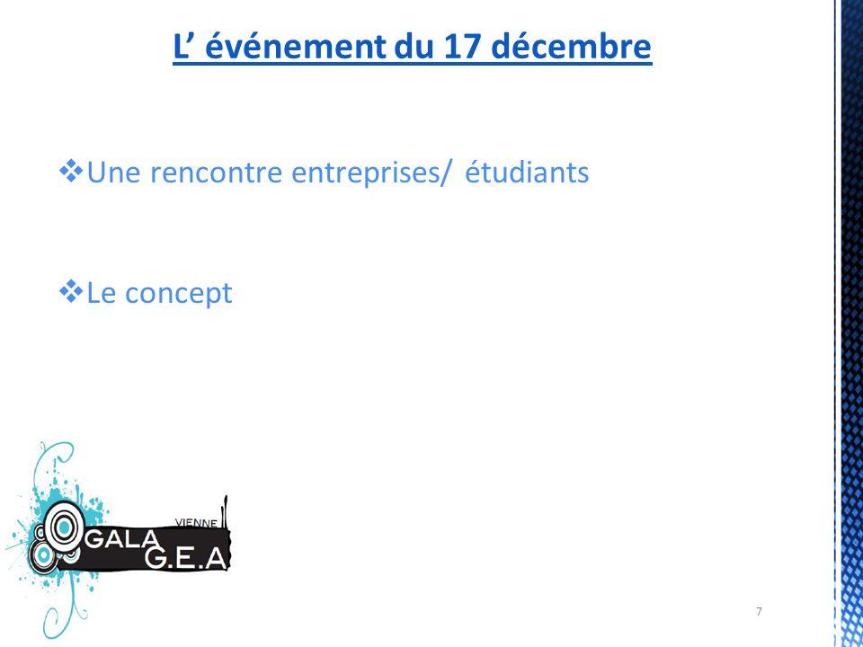 7 L événement du 17 décembre Une rencontre entreprises/ étudiants Le concept