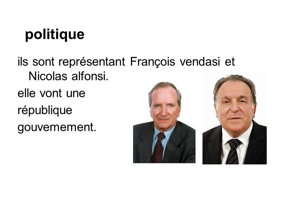 politique ils sont représentant François vendasi et Nicolas alfonsi.