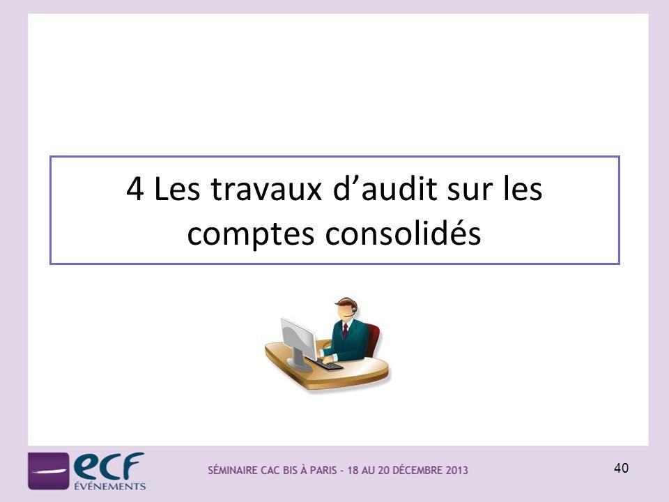 4 Les travaux daudit sur les comptes consolidés 40