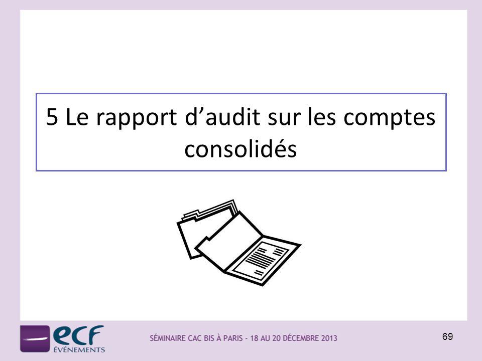 5 Le rapport daudit sur les comptes consolidés 69