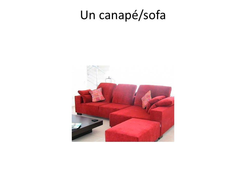 Un canapé/sofa