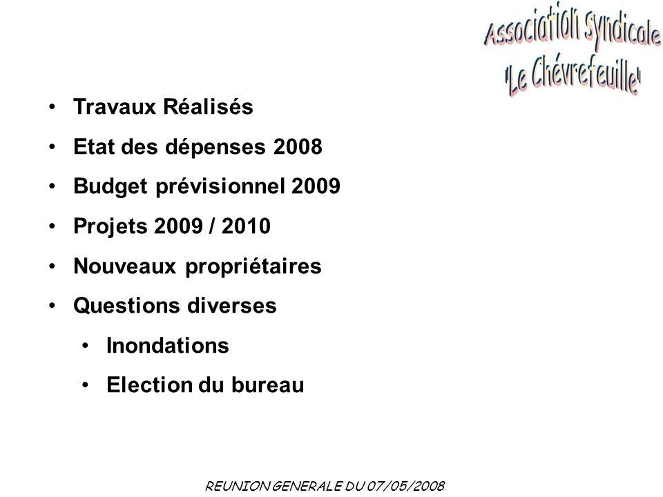 REUNION GENERALE DU 27/04/2009