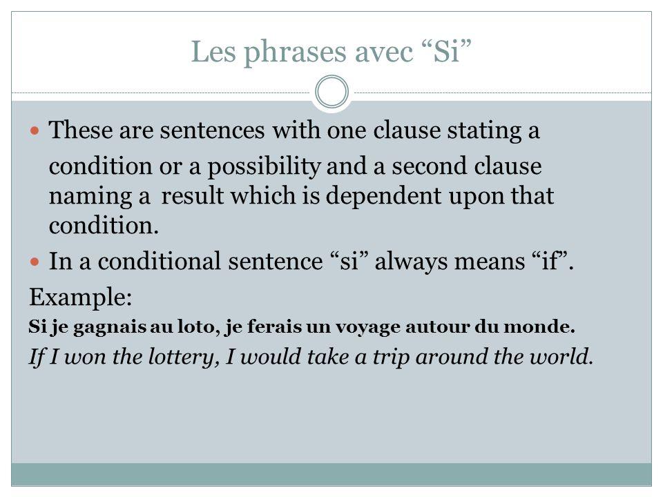 Le conditionnel – verbes irreguliers Same verbs that are irregular in the future tense. 1. aller – ir 2. avoir – aur 3. faire – fer 4. être – ser 5. v