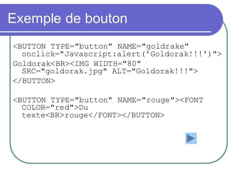 Exemple de bouton Goldorak Du texte rouge